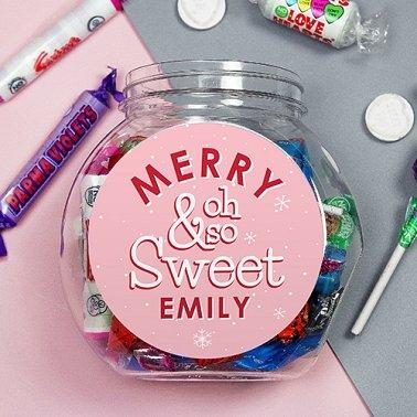 Personalised Merry So Sweet Jar Delivery UK