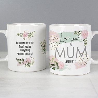Personalised Abstract Rose Mug Delivery UK