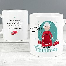 Personalised Mrs Claus Mug Delivery UK