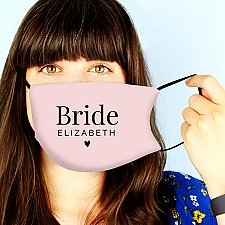 Personalised Bride Face Covering Delivery to UK