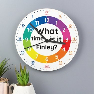 Personalised What Time Wooden Clock Delivery UK