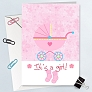 New Born Baby Girl Card