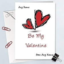 Be Mine Valentine-Personalised Card