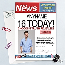 Daily News Birthday Photo Card