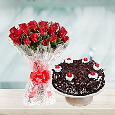 Flowers Bouquet with 2Lbs Cake - Avari Hotel