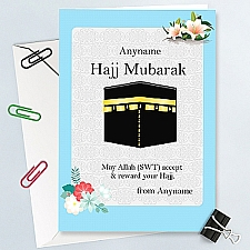 Hajj Mubarak - Personalised Card