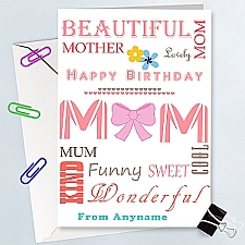 Happy Birthday Mum - Personalised Card