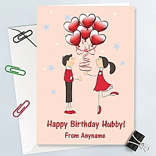HappyBirthday Hubby-Personalised Card