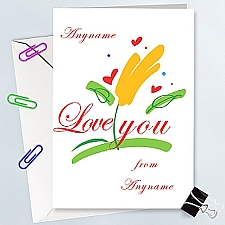 Love You-Personalised Card