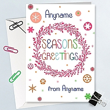 Seasons Greetings-Personalised Card