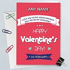 Retro Valentinesday Personalised Card