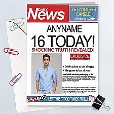 Daily News Birthday Photo Card