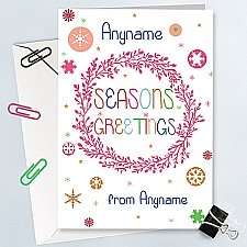 Seasons Greetings-Personalised Card