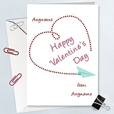 Valentines Day Heart-Personalised Card