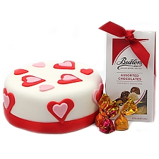 Love Cake with Buttlers Chocolates Delivery UK