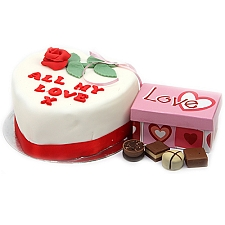 All My Love Cake And Chocolates Delivery to UK