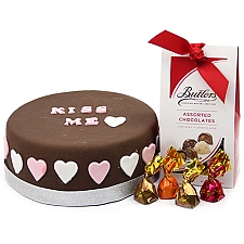 Kiss Me Cake with Buttlers Chocolates Delivery UK