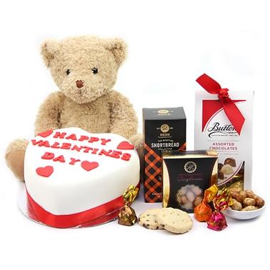 Teddy Valentine Hamper Delivery to UK