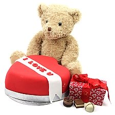 Red Heart Chocolates and Bear Delivery UK
