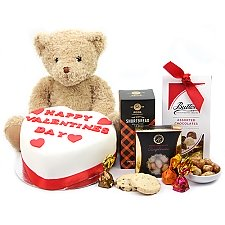Teddy Valentine Hamper Delivery to UK
