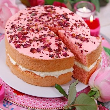 Rose Sponge Cake Delivery to UK