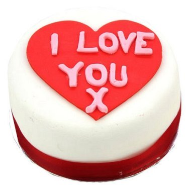 Egg Free I Love You Heart Cake delivery to UK [United Kingdom]