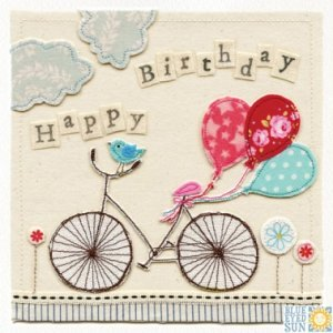 Birthday Bicycle Card