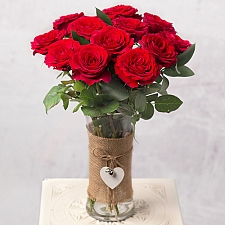 12 Red Roses by Post Roses delivery to UK [United Kingdom]
