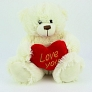 White Heart Teddy Bear