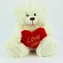 White Heart Teddy Bear