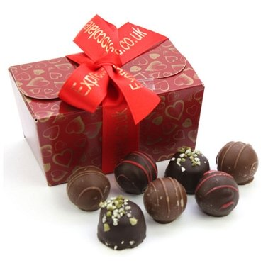 Belgian Truffles Ballotin delivery to UK [United Kingdom]