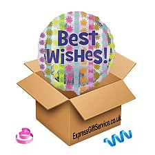 Bright Best Wishes Foil Balloon Delivery UK