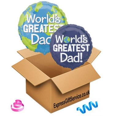 Worlds Greatest Dad Balloon delivery to UK