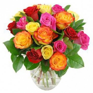 20 Multicolor Roses delivery to UK [United Kingdom]