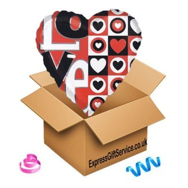 Love Heart Balloon delivery UK