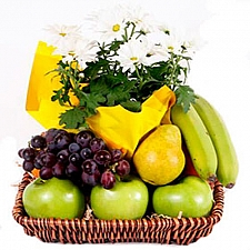 Fruits & Flowers Gift Basket delivery to Canada
