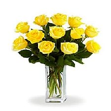 12 Long Stemmed Yellow Roses delivery to Canada