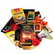 Extra Large Coffee and Chocolate Basket delivery to Canada