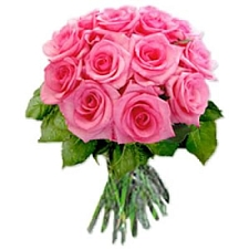 Pink Roses Bouquet 12 Flowers delivery to India