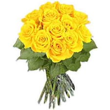 Yellow Roses Bouquet 12 Flowers delivery to India