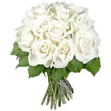 White Roses Bouquet 18 Flowers delivery to India