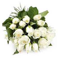White Roses Bouquet 30 Flowers delivery to India