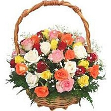 36 Mix Roses Basket delivery to India