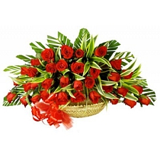 36 Red Roses Basket delivery to India
