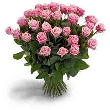 Pink Roses Bouquet 40 Flowers delivery to India