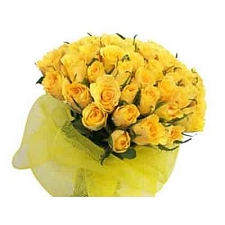Yellow Roses Bouquet 50 Flowers delivery to India