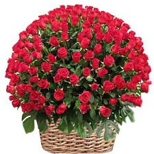 Red Roses Basket 500 Flowers delivery to India