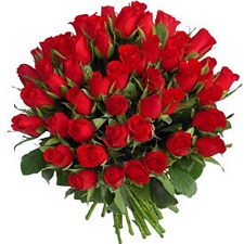 60 Red Roses Bunch delivery to India