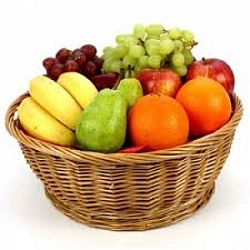 2.5 Kg Fresh Fruits Basket | Send Fruit Baskets to India by Express Gift Service