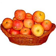 2kg Fresh Apple Basket delivery to India
